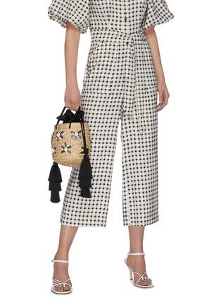 Figure View - Click To Enlarge - LE NINÈ - 'Carol' small shell embellished tassel strap small basket bag