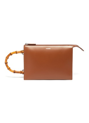 Main View - Click To Enlarge - JIL SANDER - 'Tootie' bamboo handle small leather clutch