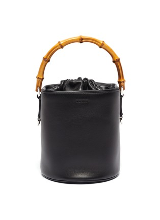 Main View - Click To Enlarge - JIL SANDER - Bamboo handle small leather bucket bag