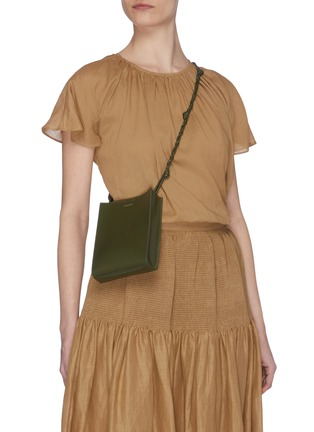 Figure View - Click To Enlarge - JIL SANDER - 'Tangle' small leather box bag