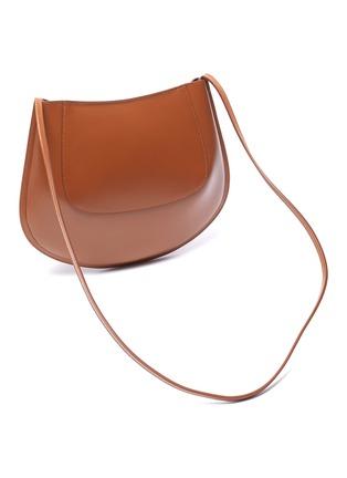 Detail View - Click To Enlarge - JIL SANDER - 'Crescent' small leather shoulder bag