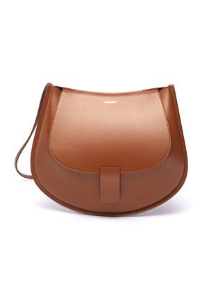 Main View - Click To Enlarge - JIL SANDER - 'Crescent' small leather shoulder bag