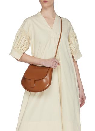 Figure View - Click To Enlarge - JIL SANDER - 'Crescent' small leather shoulder bag