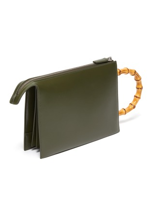 Detail View - Click To Enlarge - JIL SANDER - 'Tootie Bamboo' small leather clutch