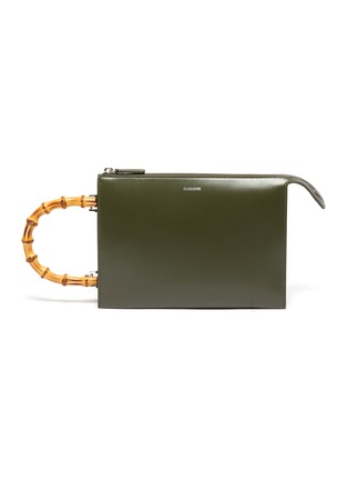 Main View - Click To Enlarge - JIL SANDER - 'Tootie Bamboo' small leather clutch