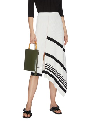 Figure View - Click To Enlarge - JIL SANDER - 'Tootie Bamboo' small leather clutch