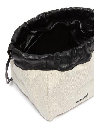 Detail View - Click To Enlarge - JIL SANDER - Drawstring small crossbody bag