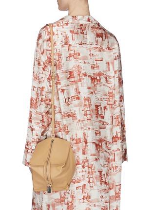 Figure View - Click To Enlarge - JIL SANDER - 'Block' small leather shoulder bag