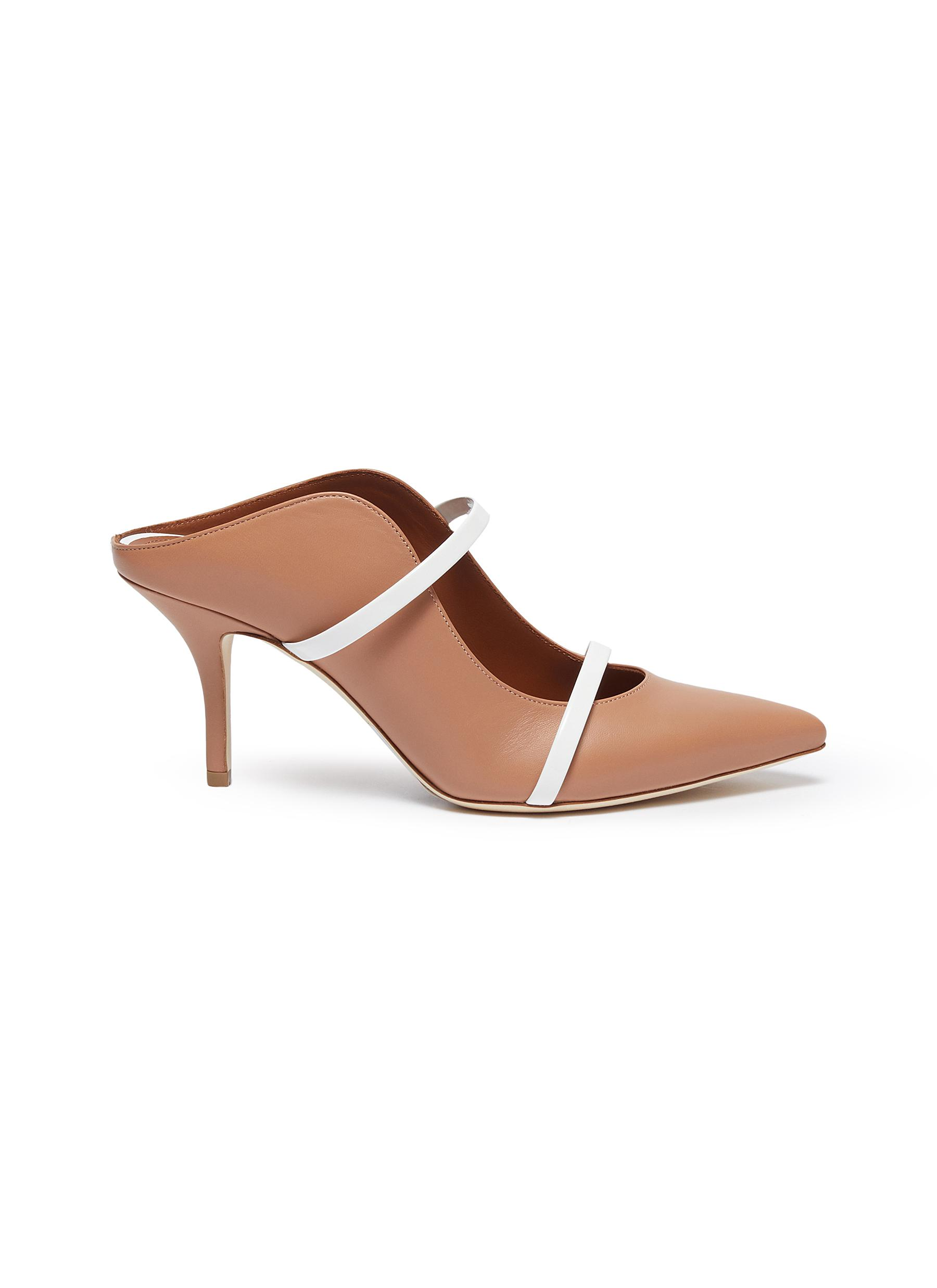 Malone Souliers Mid Heels Maureen strappy nappa leather mules