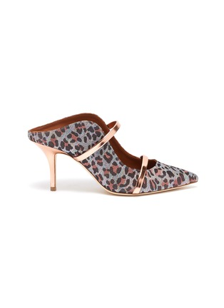 Main View - Click To Enlarge - MALONE SOULIERS - 'Maureen' leopard print mules