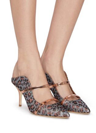 Figure View - Click To Enlarge - MALONE SOULIERS - 'Maureen' leopard print mules