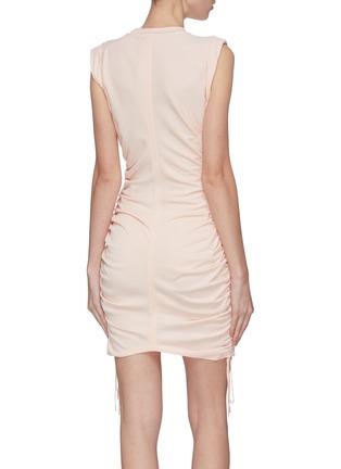 Back View - Click To Enlarge - ALEXANDERWANG.T - 'Wash + Go' gathered drawstring mini dress