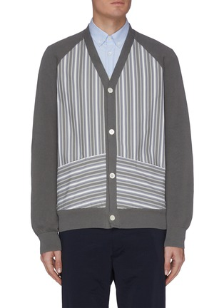 Main View - Click To Enlarge - NANAMICA - Hybrid panel cardigan