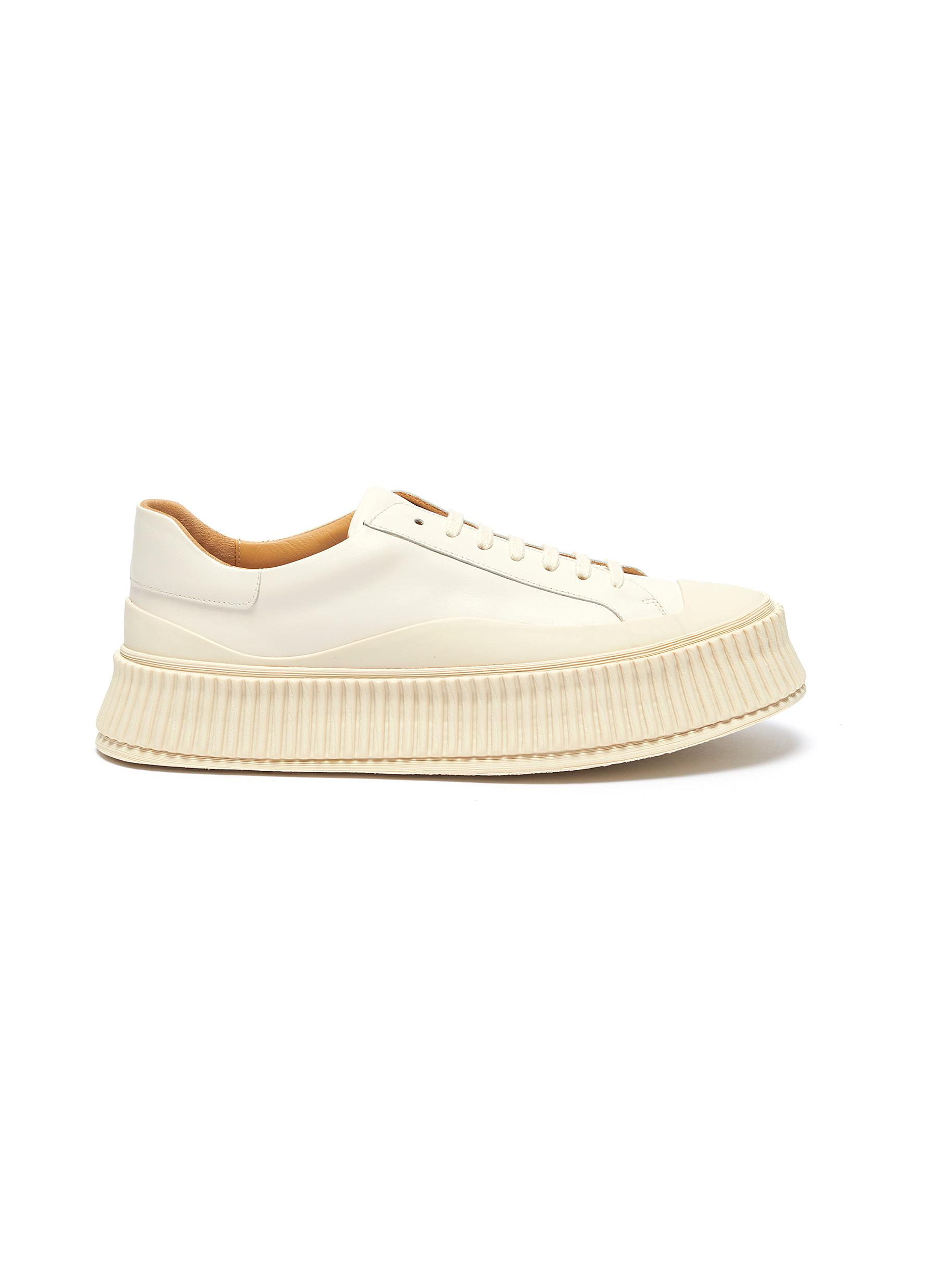 Jil Sander Sneakers Chunky sole leather sneakers