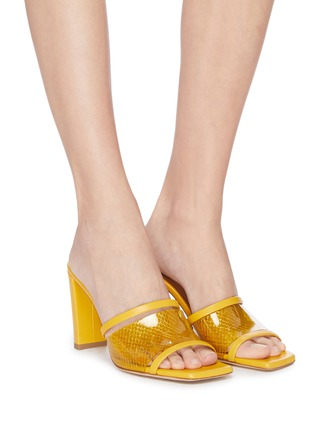 Figure View - Click To Enlarge - MALONE SOULIERS - 'Demi 85mm' mesh leather sandals