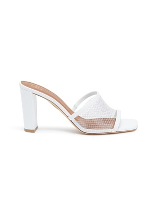 Main View - Click To Enlarge - MALONE SOULIERS - 'Demi 85mm' mesh leather sandals