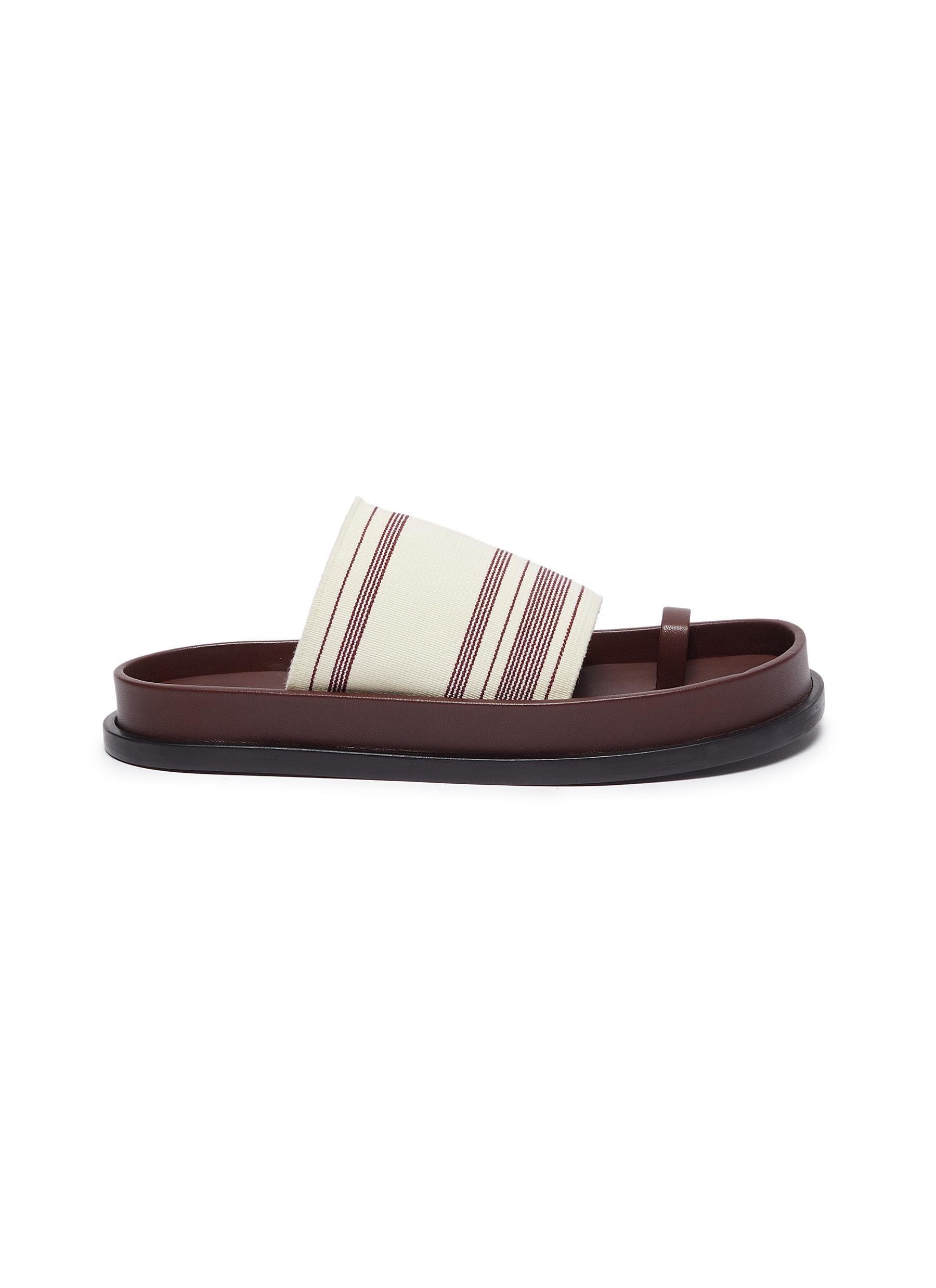 Jil Sander Flats Toe ring footbed slides