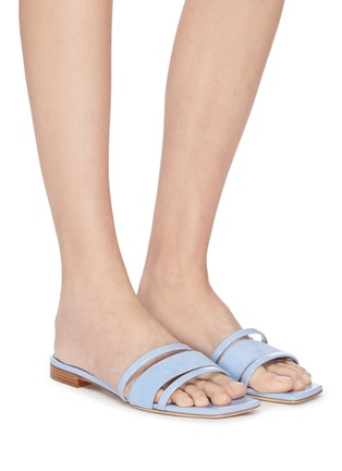 Figure View - Click To Enlarge - MALONE SOULIERS - 'Demi' leather sandals