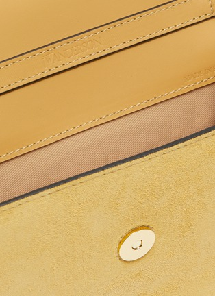Detail View - Click To Enlarge - JW ANDERSON - 'Logo' plate crossbody bag