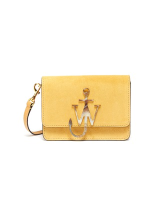 Main View - Click To Enlarge - JW ANDERSON - 'Logo' plate crossbody bag
