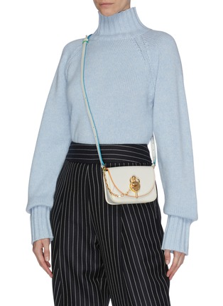 Figure View - Click To Enlarge - JW ANDERSON - 'Nano Keyts' leather crossbody bag