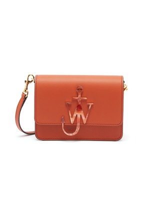 Main View - Click To Enlarge - JW ANDERSON - 'Anchor' logo plate leather crossbody bag