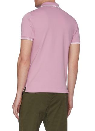 Back View - Click To Enlarge - STONE ISLAND - Logo Appliquéd Polo Shirt