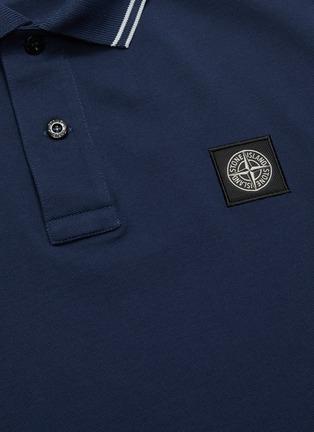 - STONE ISLAND - Logo Appliquéd Polo Shirt