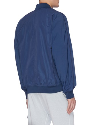 Back View - Click To Enlarge - STONE ISLAND - Embroidered patch bomber jacket