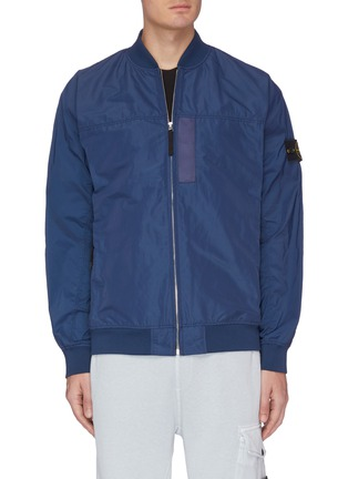 Main View - Click To Enlarge - STONE ISLAND - Embroidered patch bomber jacket