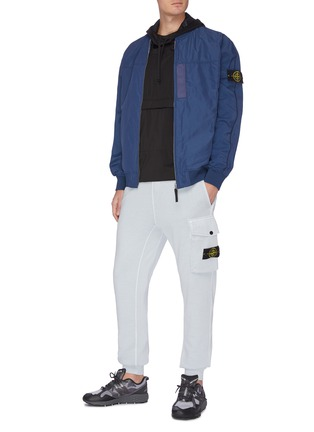 Figure View - Click To Enlarge - STONE ISLAND - Embroidered patch bomber jacket