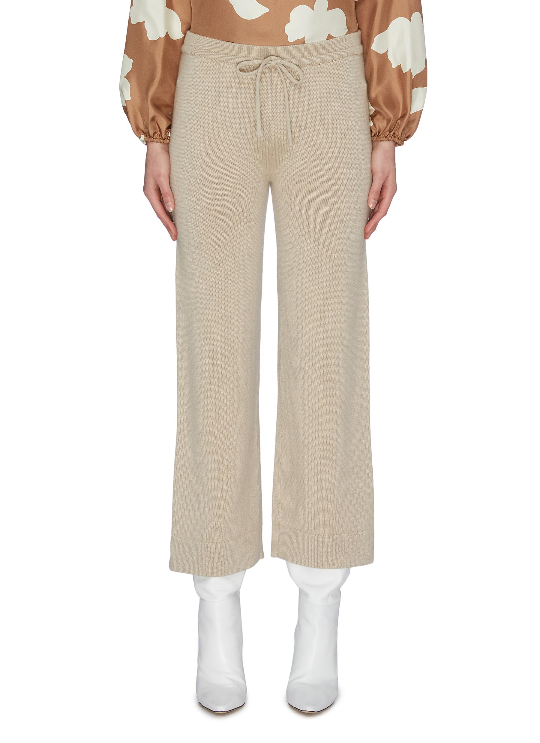 shop Theory Flared cashmere lounge pants online
