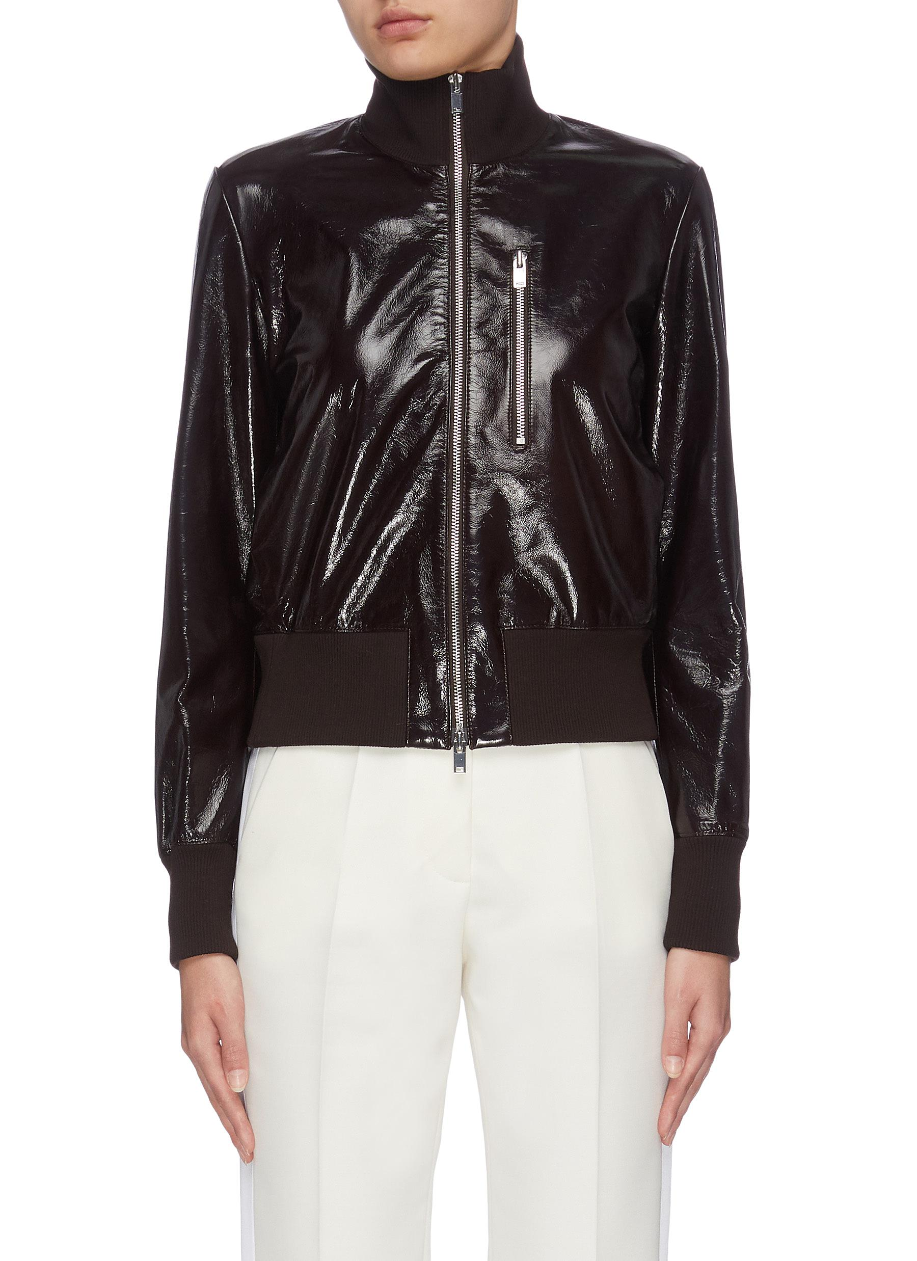 shop Theory 'Aviator' zip lambskin leather bomber jacket online