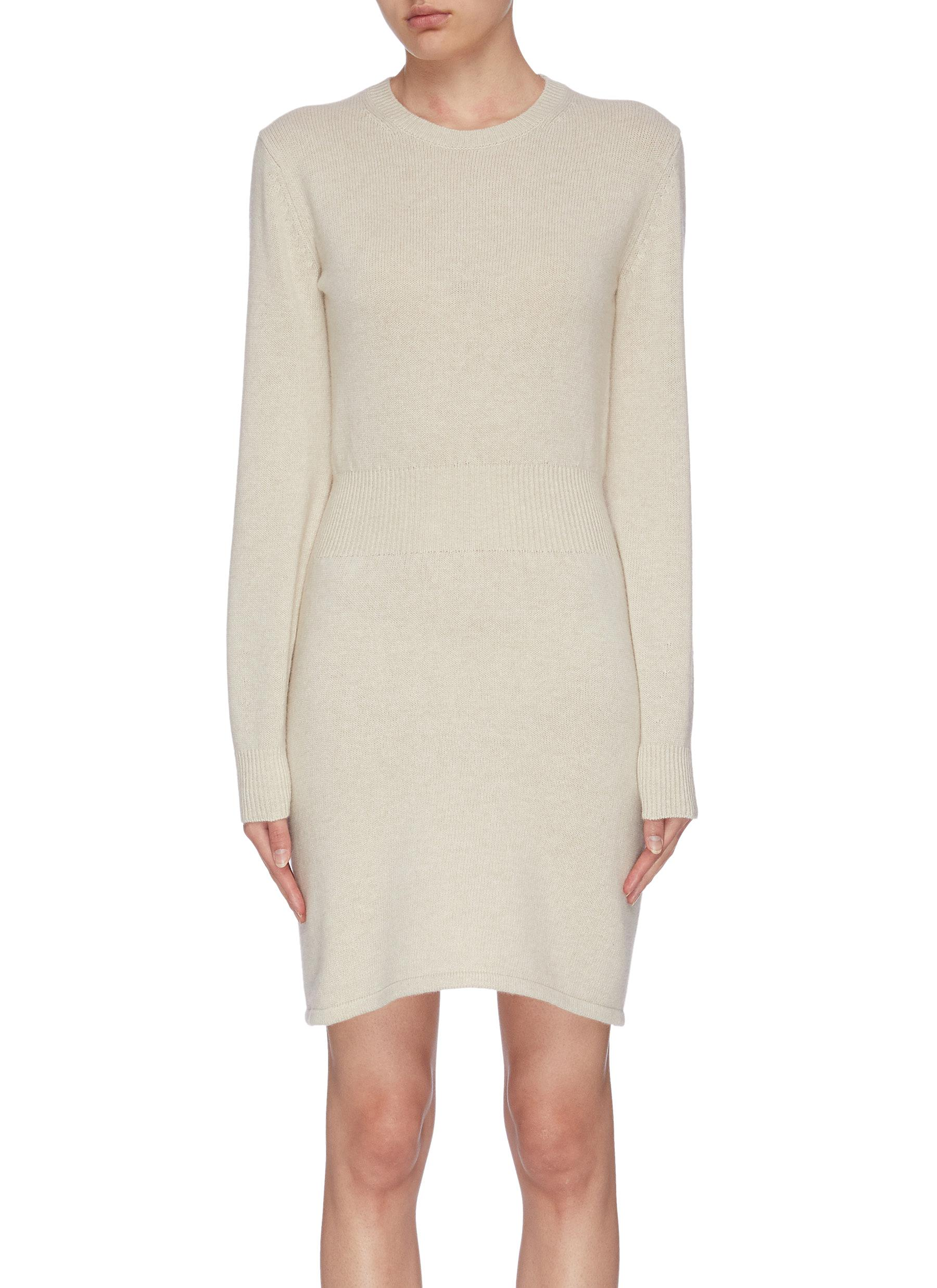 shop Theory Cashmere wool blend rib knit dress online