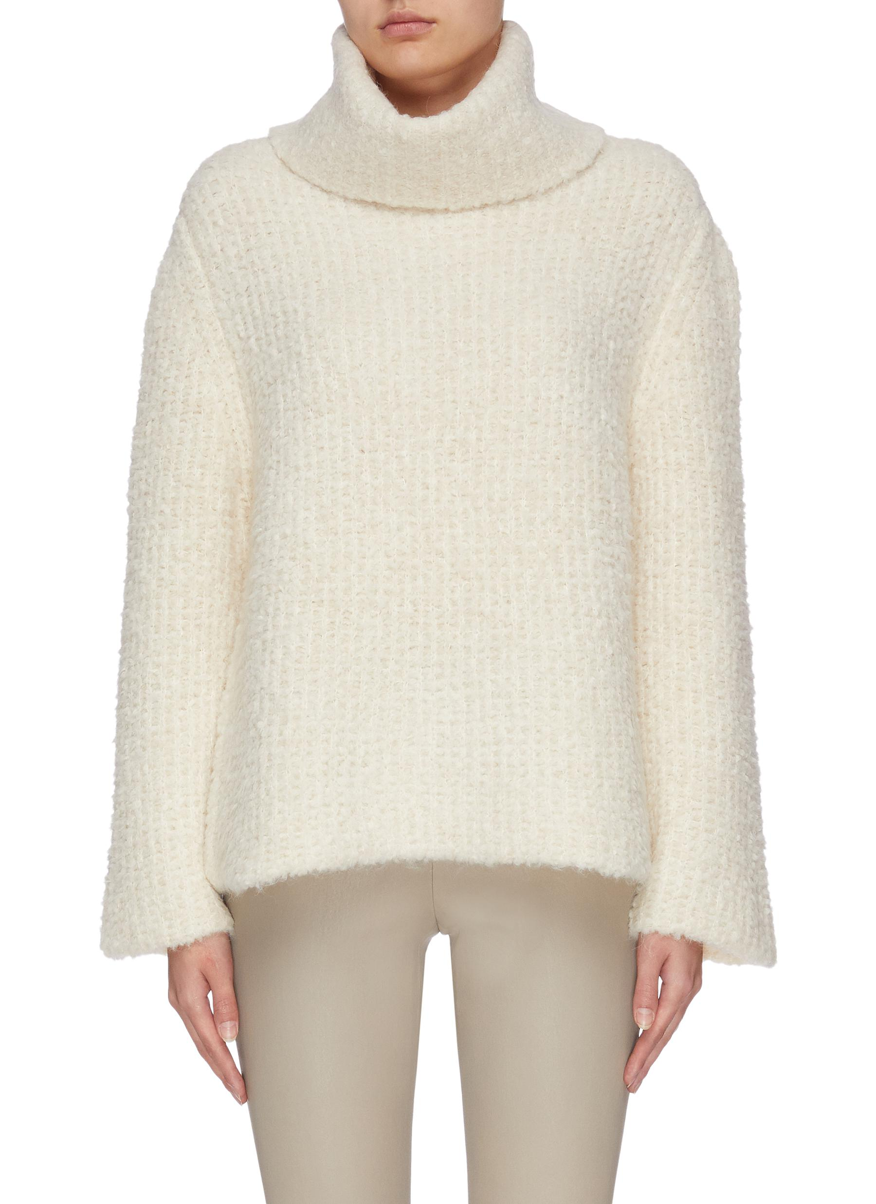 shop Theory Fold-over neck sweater online