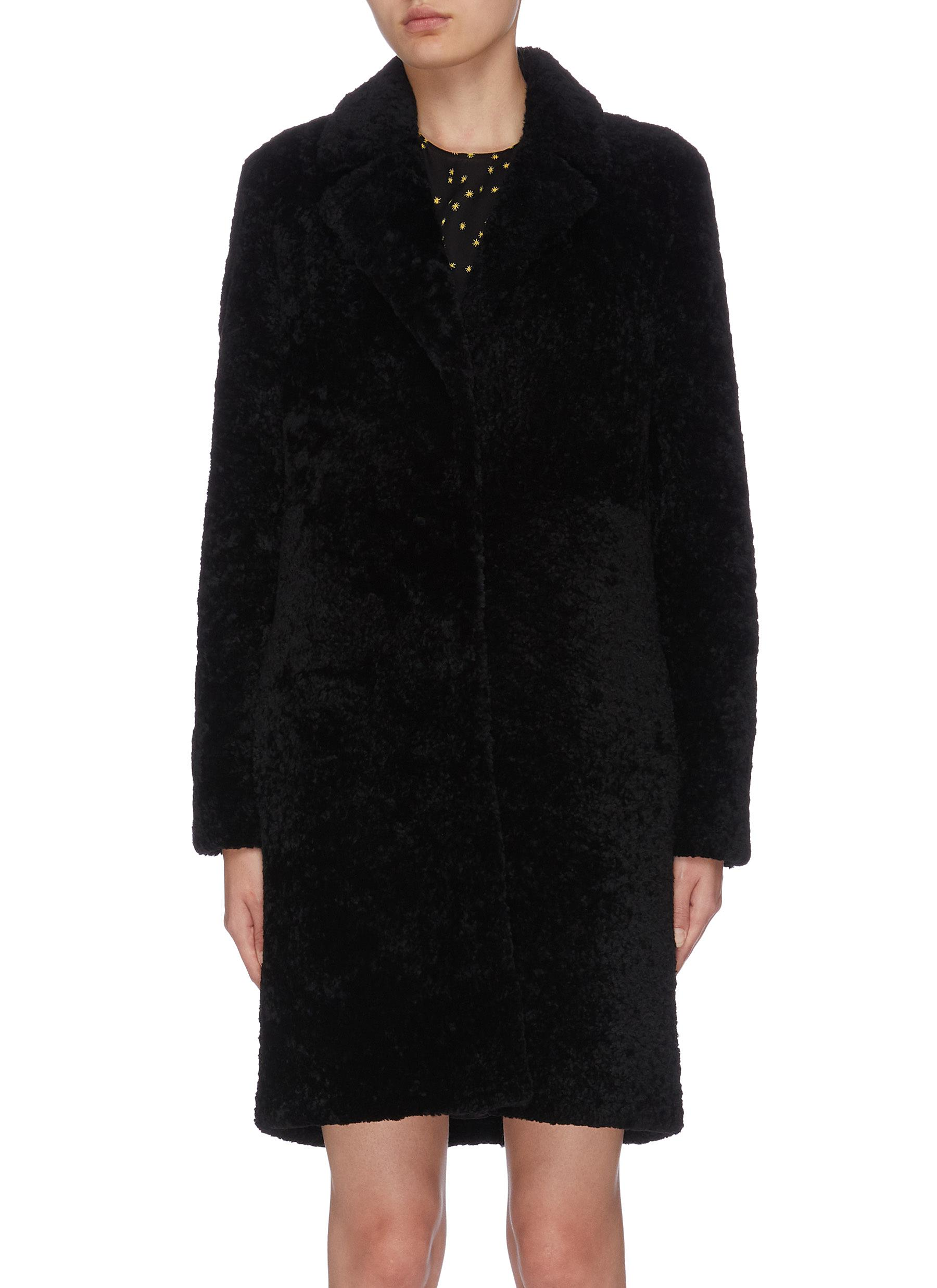 shop Theory Shearling coat online