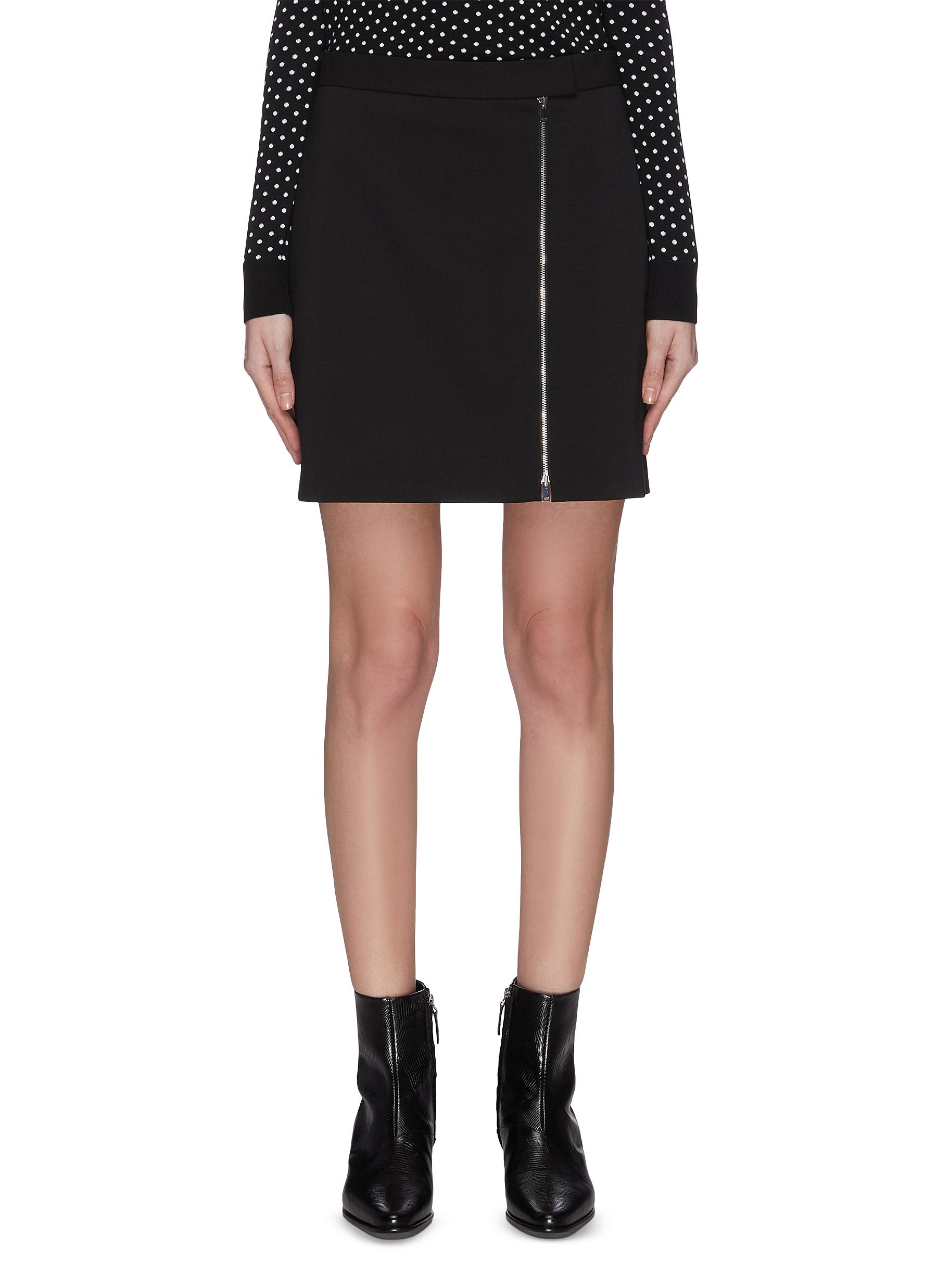 Buy Theory Skirts Zip mini skirt