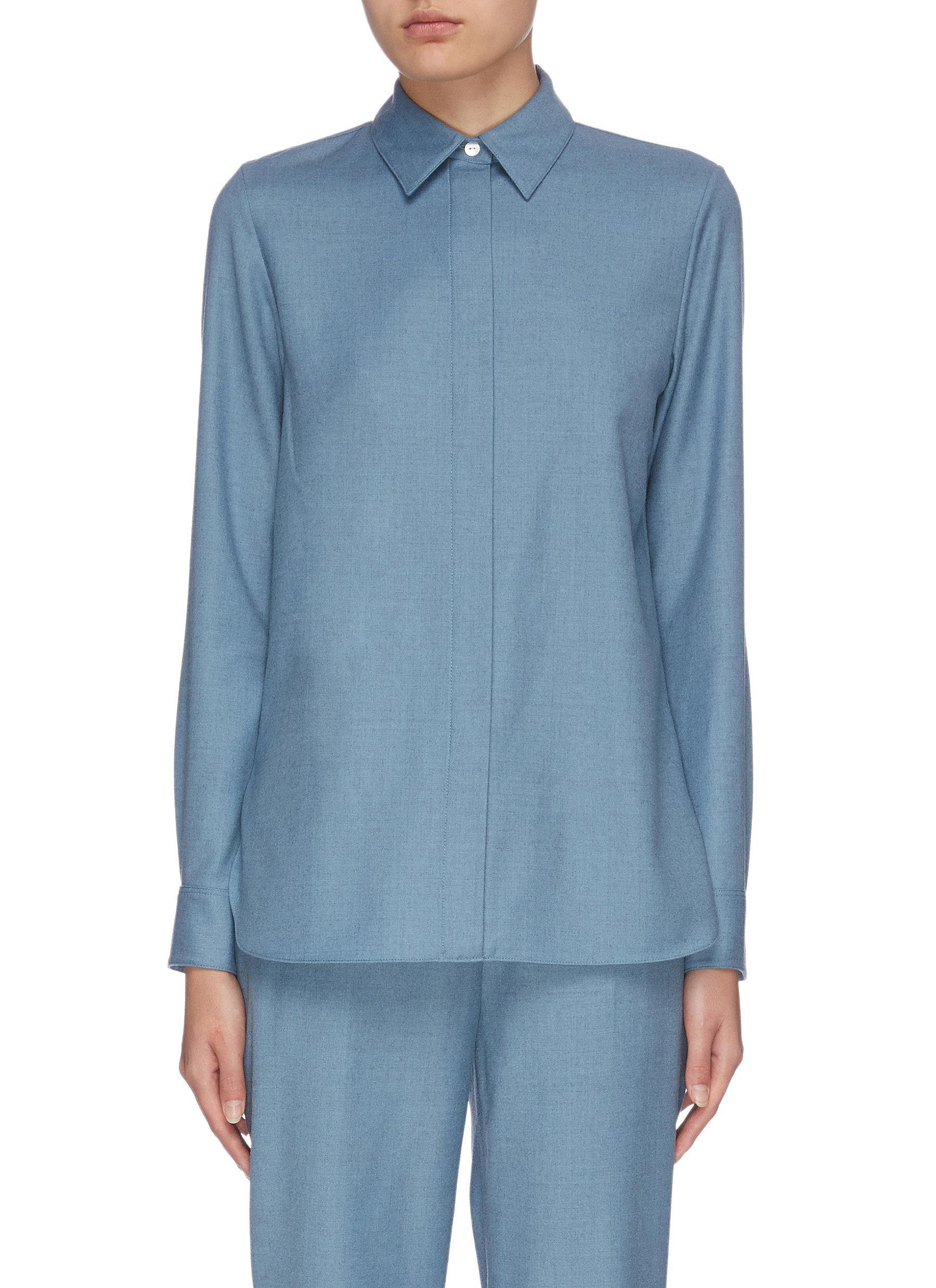 shop Theory Hidden button straight shirt online