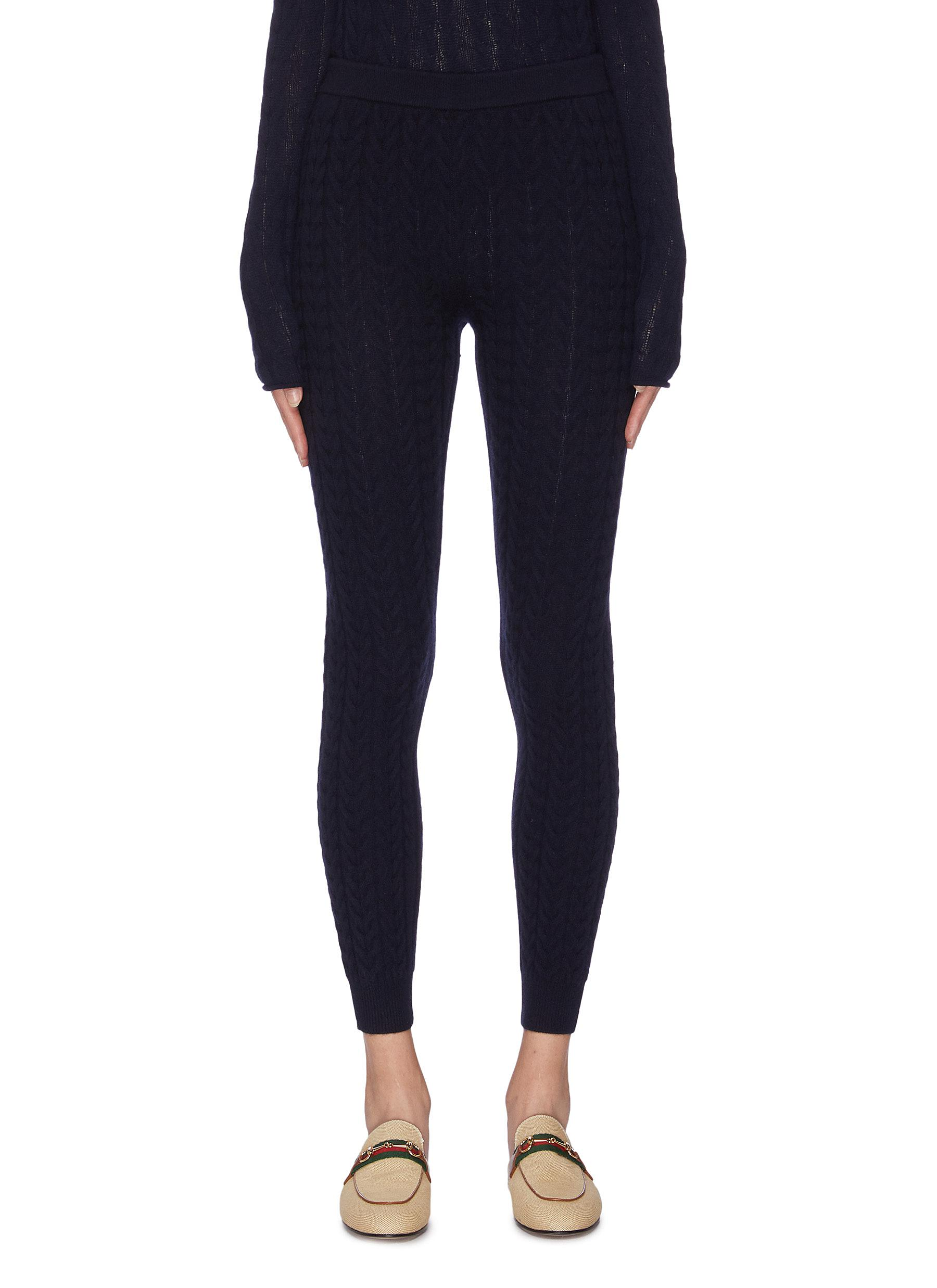 shop Theory Cable knit leggings online