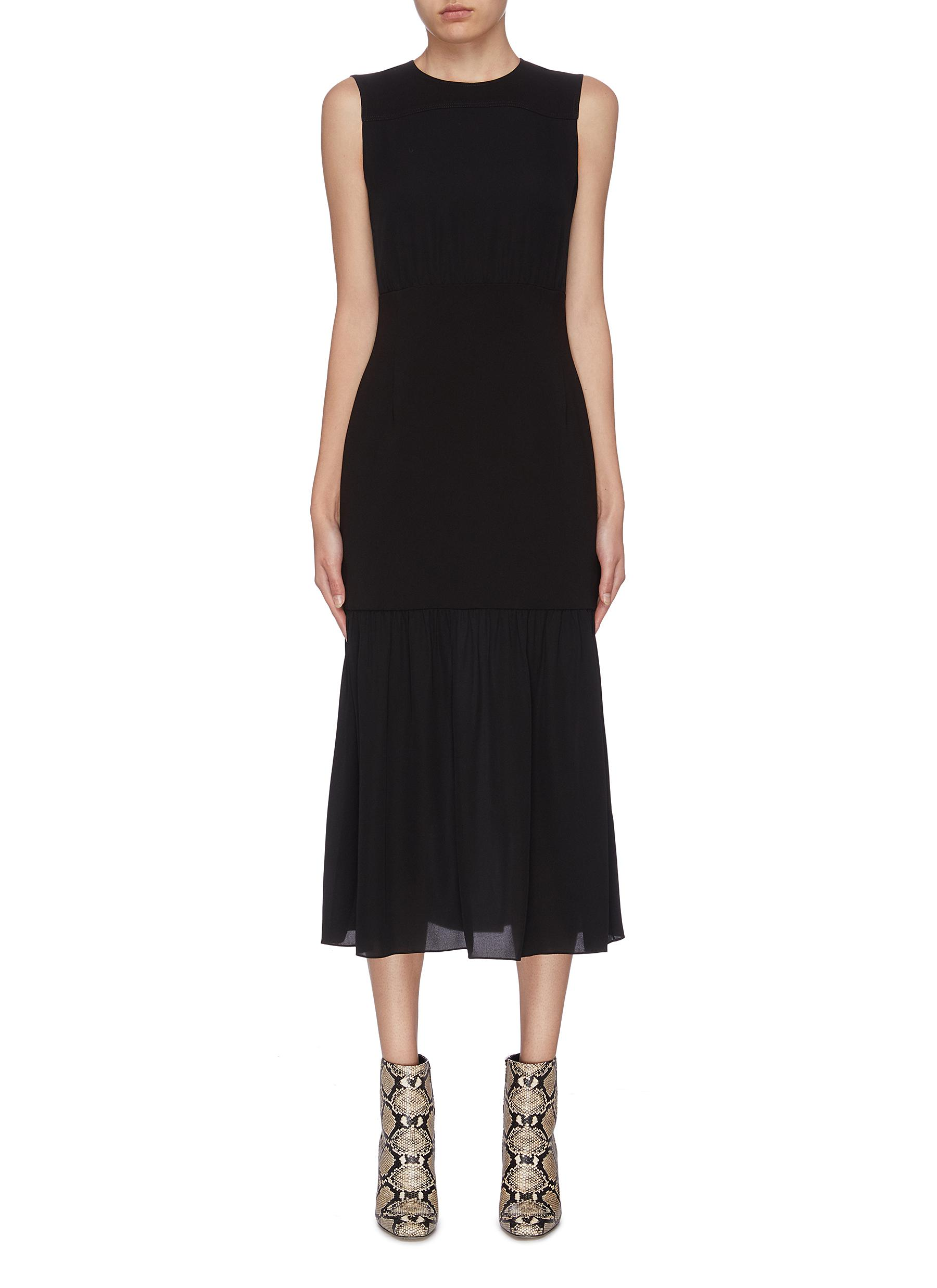 shop Theory Panelled blouson sleeveless dress online