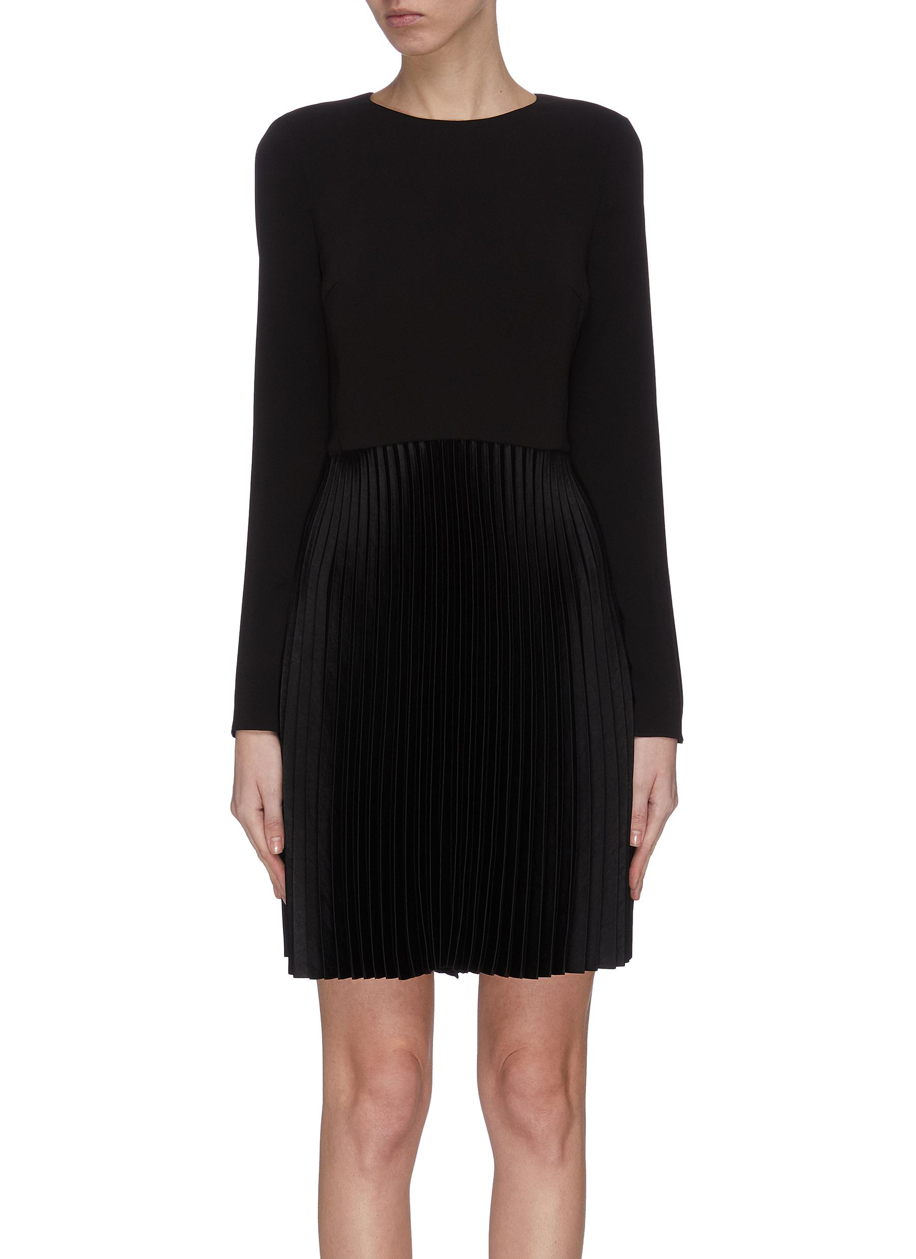 shop Theory Dart pleated crepe dress online