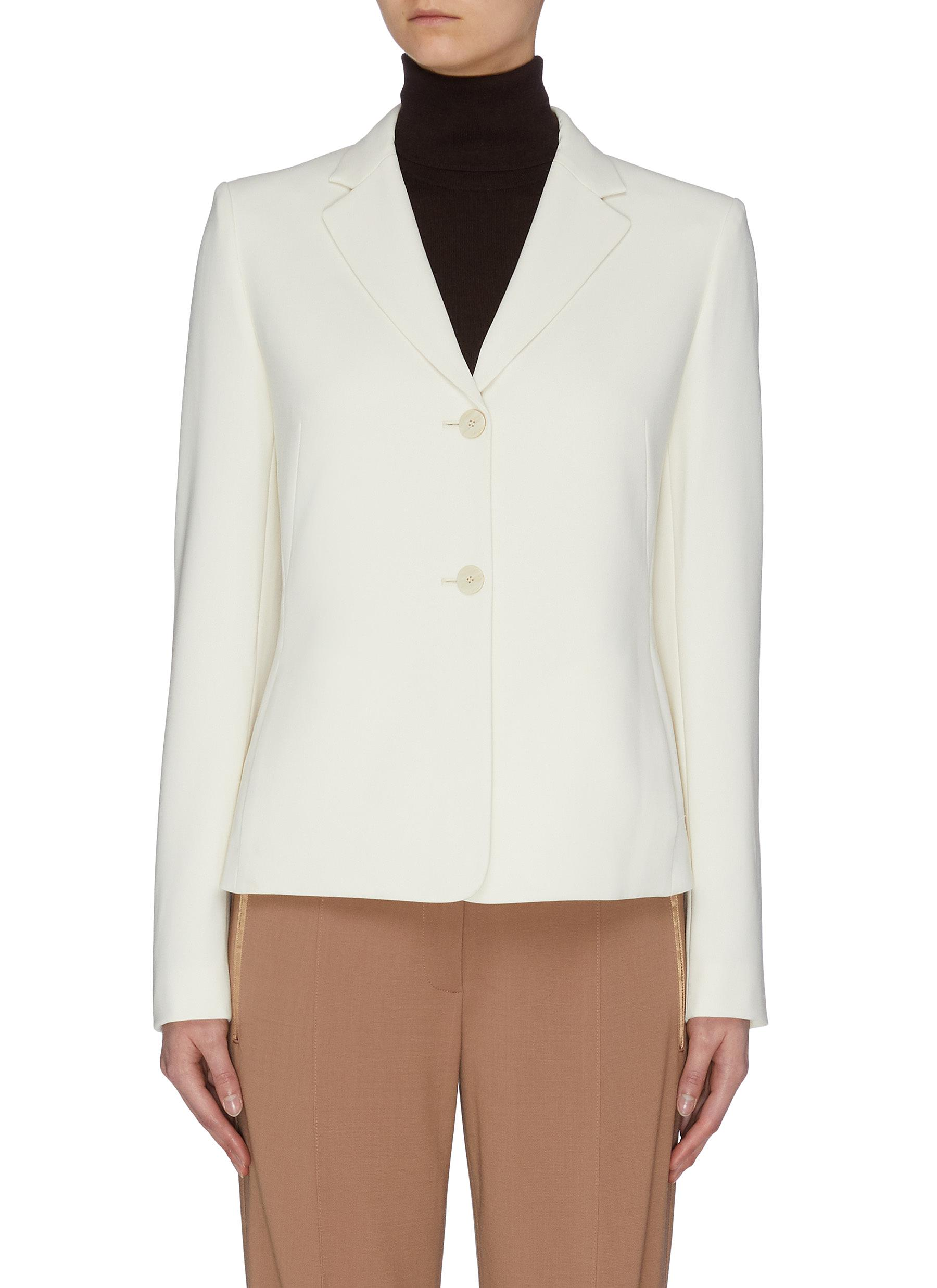 shop Theory Pleated crop blazer online