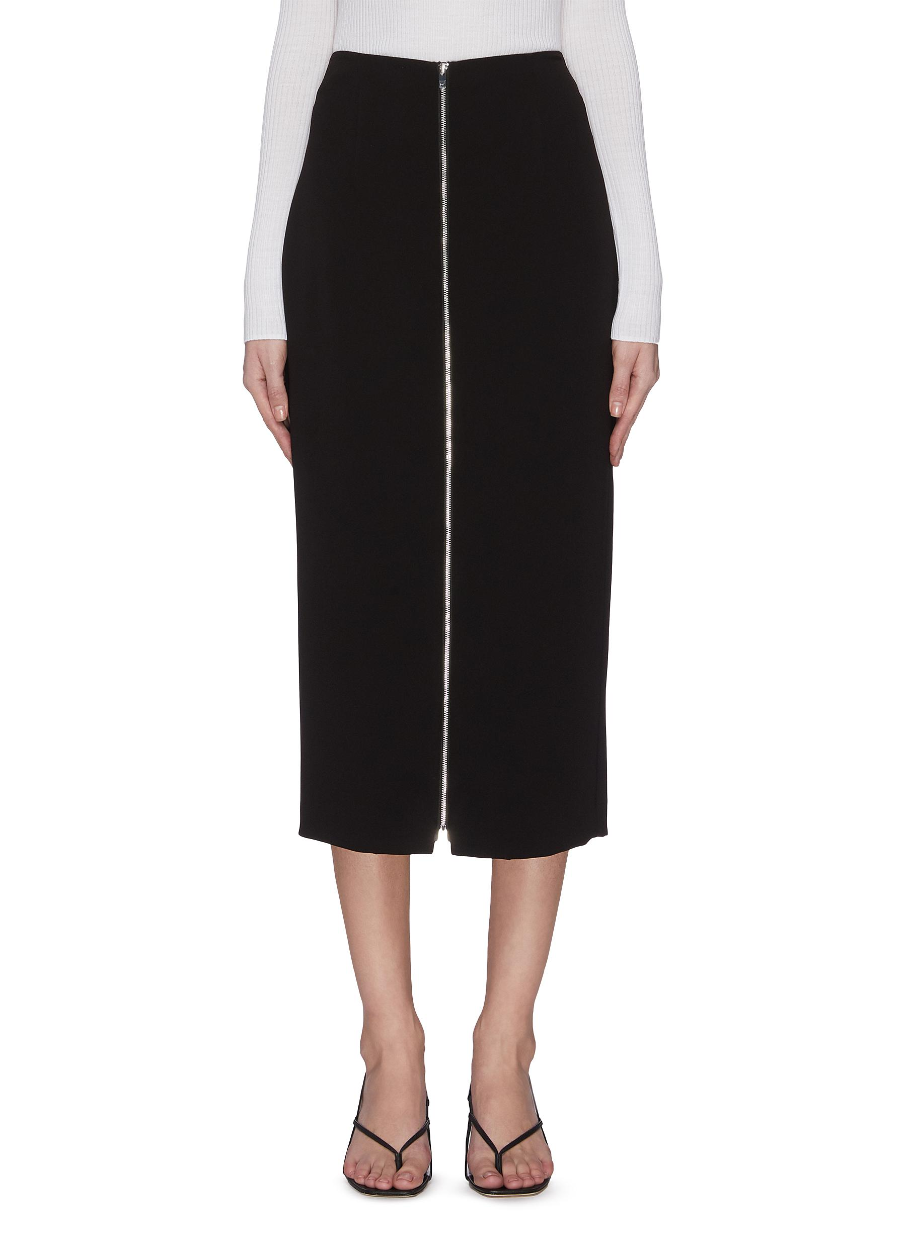 Buy Theory Skirts Zip midi skirt