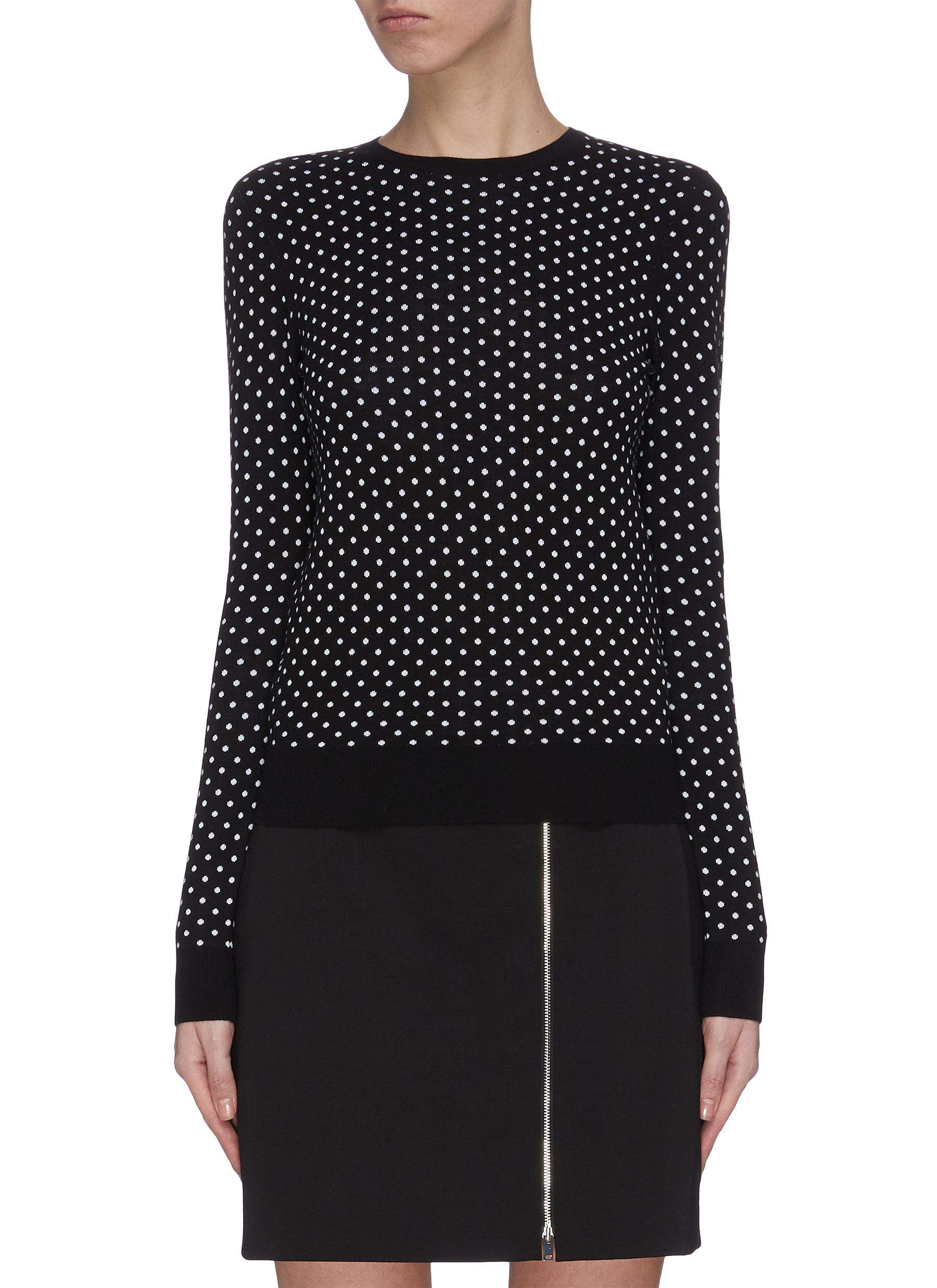 shop Theory 'Mini Pd' polka dot crewneck knit top online