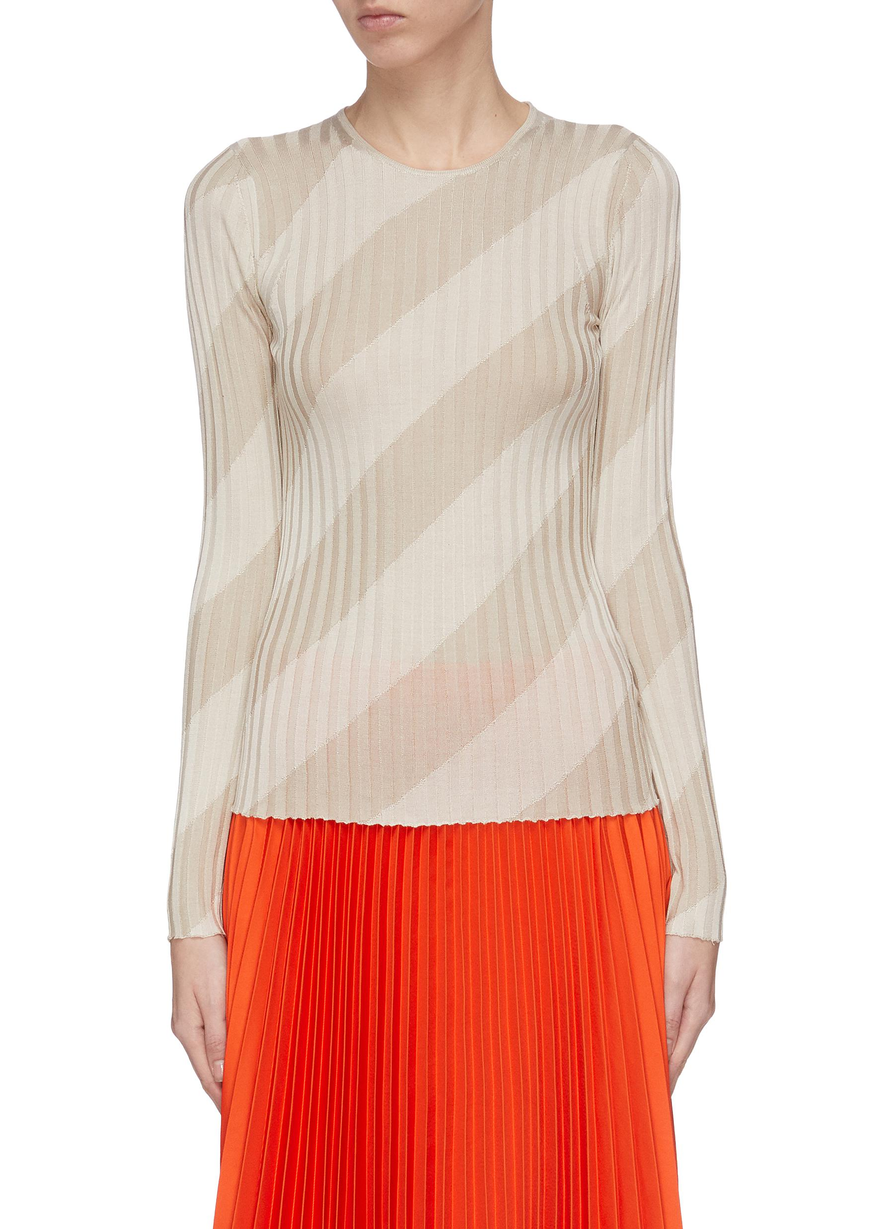 shop Theory Intarsia ribbed top online