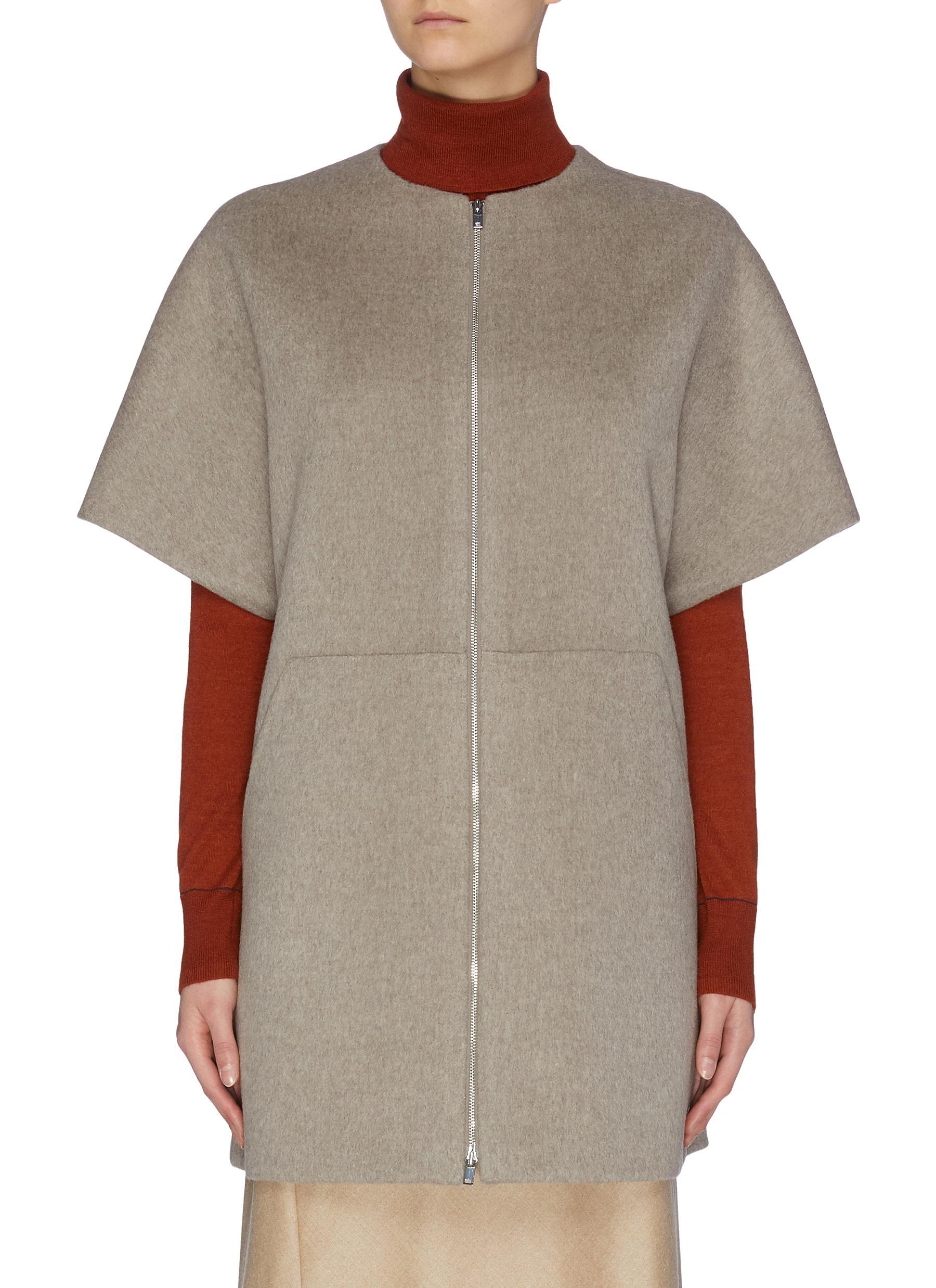 shop Theory Zip short sleeve bell coat online