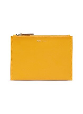Main View - Click To Enlarge - MÉTIER - Calfskin leather zip pouch