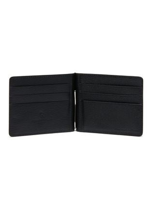 Figure View - Click To Enlarge - JEAN ROUSSEAU - Embossed calfskin leather money clip wallet
