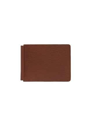 Main View - Click To Enlarge - JEAN ROUSSEAU - Embossed calfskin leather money clip wallet