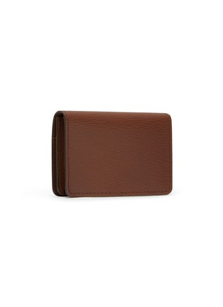 Figure View - Click To Enlarge - JEAN ROUSSEAU - Embossed calfskin leather business cardholder